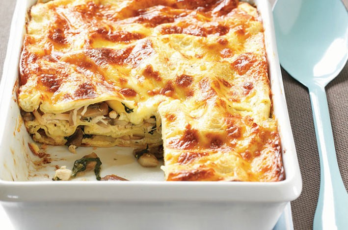 Australian Mushrooms   Mushroom, Chicken & Spinach Lasagne