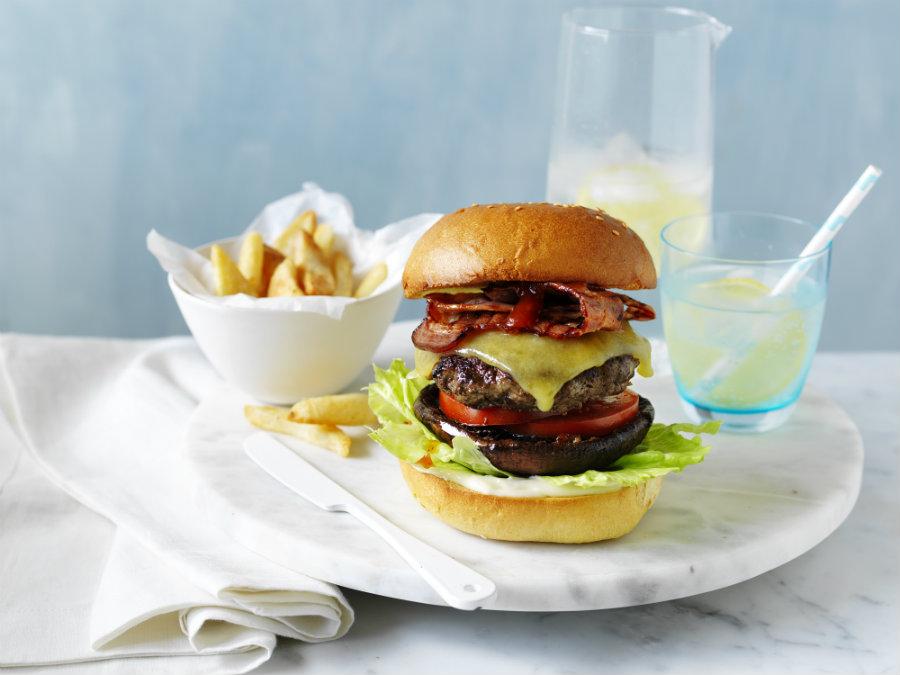 The Ultimate beef & mushroom burger - 900 wide