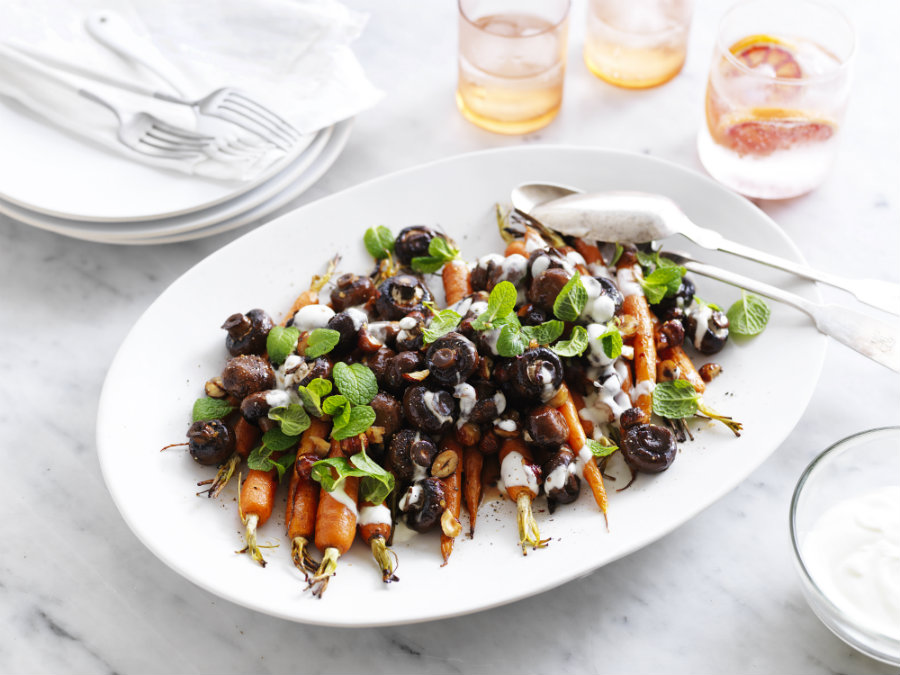roasted mushroom & carrot salad with maple dressing - 900 wide